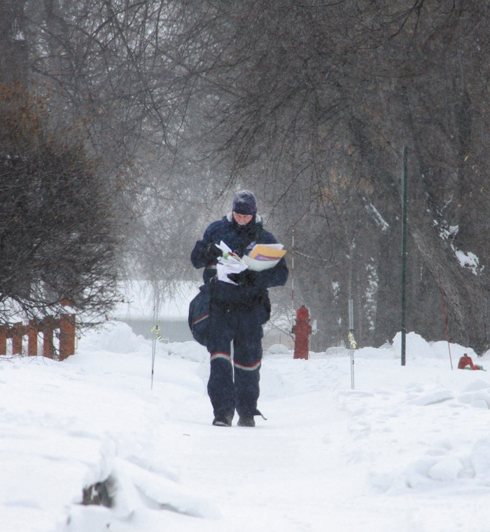 It is rare that the U.S. Postal Service doesn't deliver the mail, but with wind chills expected to be 50 to 60 below last Wednesday delivery was suspended. Postal carriers were back out Thursday despite wind chills still in the teens to 20s below zero.