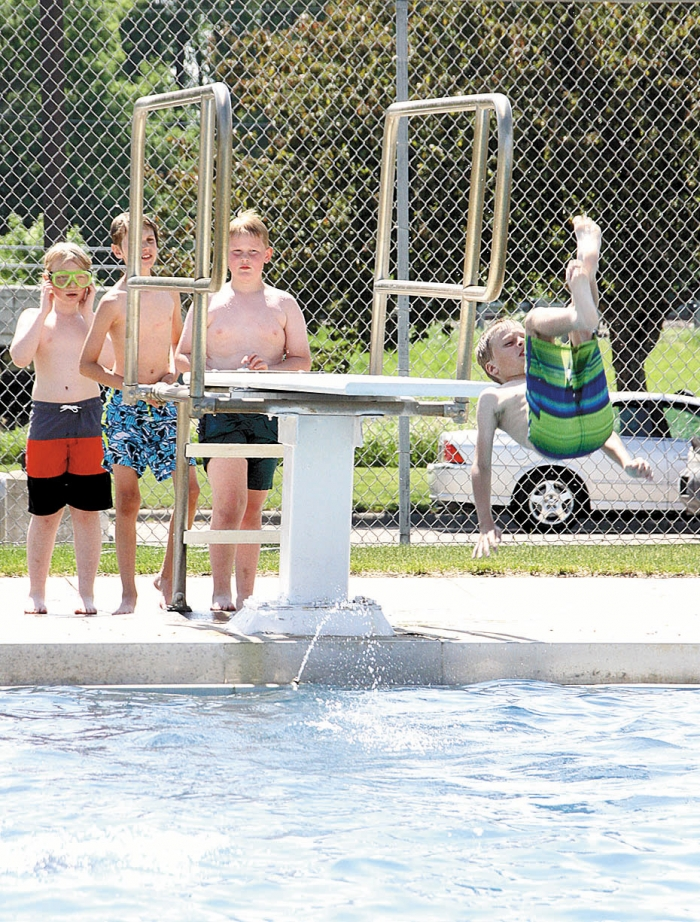 With temperatures reaching into the 90s throughout the Memorial Day weekend, the Benson Swimming Pool was a popular place to cool off for kids, and adults.