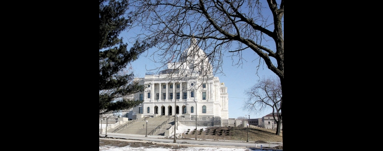 Minnesota's Capitol renovation is nearly complete. This photo is of the west end of the Capitol, which houses the governor and sectretary of state offices.