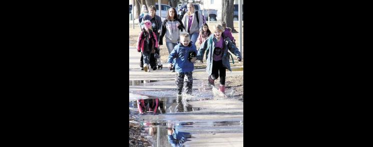 Monday looked and felt more like a day in early April than mid-February as the high hit a record 52 degrees.
