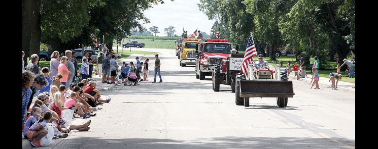Kids and adults lined the street in DeGraff Sunday for the annual Labor Day observance.