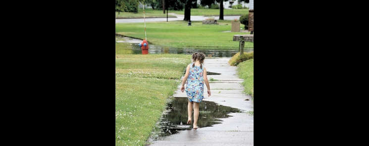 Puddles hold an enduring fascination for children.