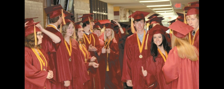 Benson's 129th annual commencement exercises, Sunday afternoon.  More pictures and the BHS Graduation Special can be found inside.