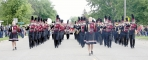 Benson High School's Marching Band performs in its new uniforms in the Memorial Day parade. It will lead off next Wednesday's Pioneerland Band Festival parade.
