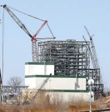 Fibrominn, now Benson Power, under construction in 2005.