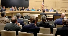 Members of the Legislative Energy Commission took testimony at the state Capitol last Thursday on the impact of closing Benson Power, LLC, will have on suppliers and the community.