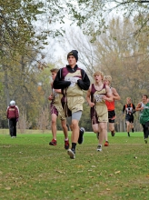 Austin Ose (with hat), Dylan Stewart (right) and others run during the Benson Invitational last Monday afternoon at the Benson Golf Club.  More pictures and a recap of the individual and team standings will be highlighted next week.