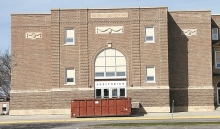 Benson's Junior High School's 1928 auditorium will be torn down this summer. Bids for the first phase of a $28.6 school building project came in more than $360,000 below budget.